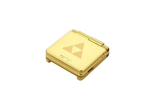 Game Boy Advance SP Replacement Housing Shell Gold Zelda Triforce Glass Lens