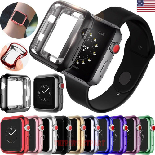 For Apple Watch 5 4 3 2 Full Case Cover Screen Protector iWatch 38/42mm 40/44mm