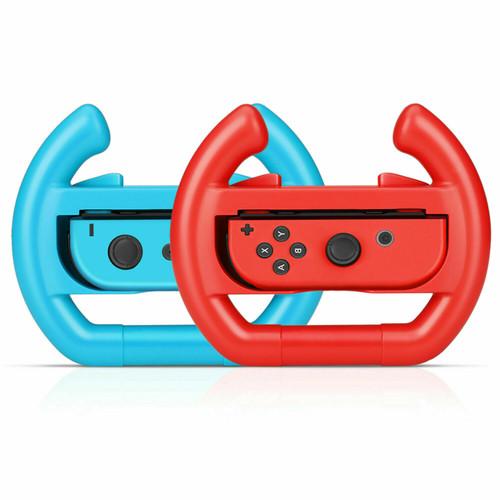 2 Pack Racing Steering Wheel For Nintendo Switch Joy-Con Controller Handle Grip