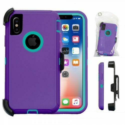 For iPhone X XS 10 Defender Shockproof Case Rugged Cover Fits Otterbox Belt Clip