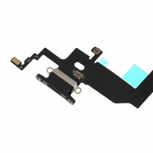 OEM SPEC Black Charging Port Headphone Jack Mic Flex Cable For iPhone X 5.8 USB