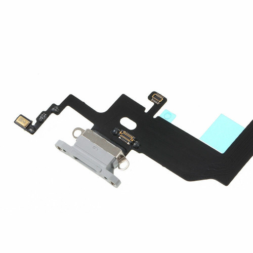 OEM White Charging Port Headphone Jack Mic Flex Cable For iPhone X 5.8'' USB USA