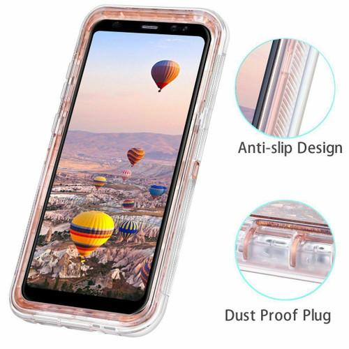 For Samsung Galaxy S8 S9 Note Liquid Glitter Case (Clip Fits Otterbox Defender)