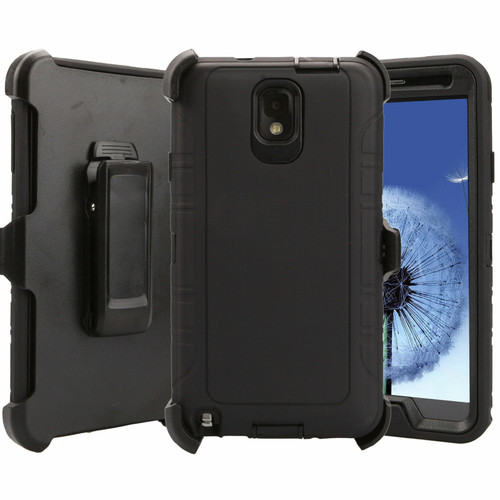 For Samsung Galaxy Note 3 Heavy Duty Defender Case (Clip Holster fits Otterbox)
