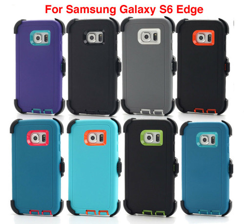 For Samsung Galaxy S6 Edge Case Cover Screen (Fits Otterbox Defender Belt Clip)