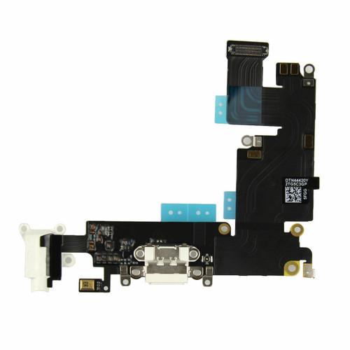 OEM SPEC USB Charging Port Dock Mic Headphone Flex Cable for iPhone 6 PLUS White