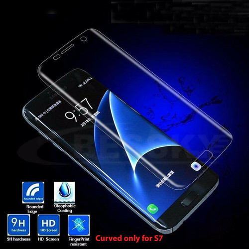 FULL COVER Quality Premium Tempered Glass Screen Protector For Samsung Galaxy S7