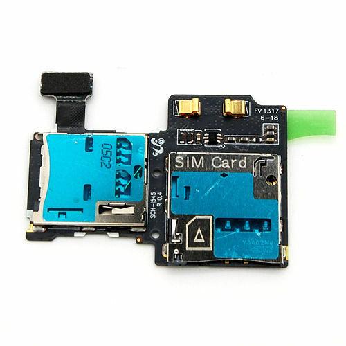 OEM SIM Card Micro SD Reader Tray Flex Parts For Samsung Galaxy S4 L720 Sprint