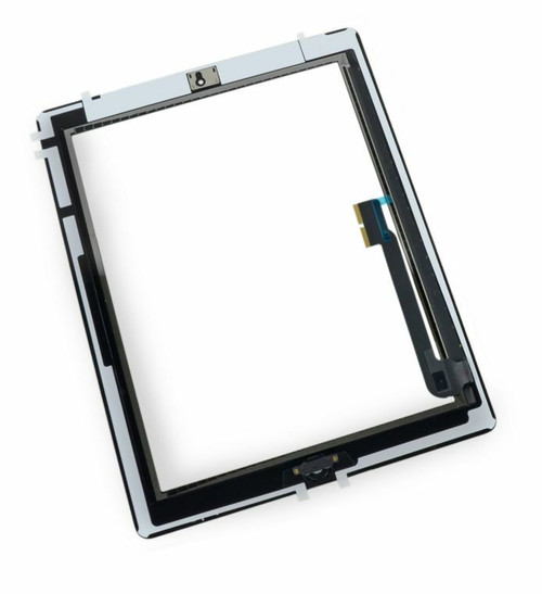OEM SPEC Black Touch Screen Glass Digitizer iPad 3 Home Button Assembly Adhesive