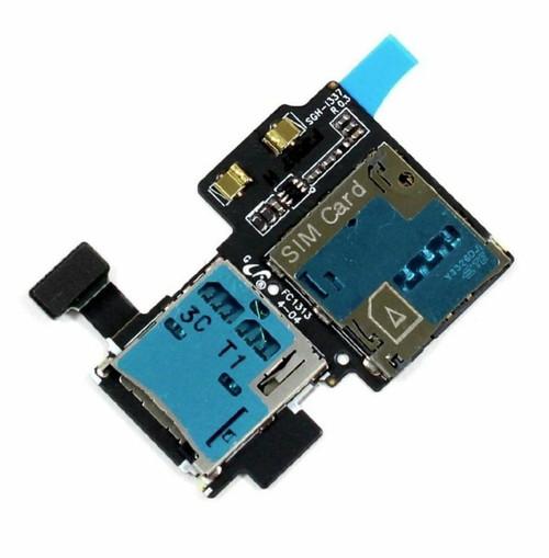 OEM SIM Card Micro SD Reader Tray Flex for Samsung Galaxy S4 I9500 i337 L720T