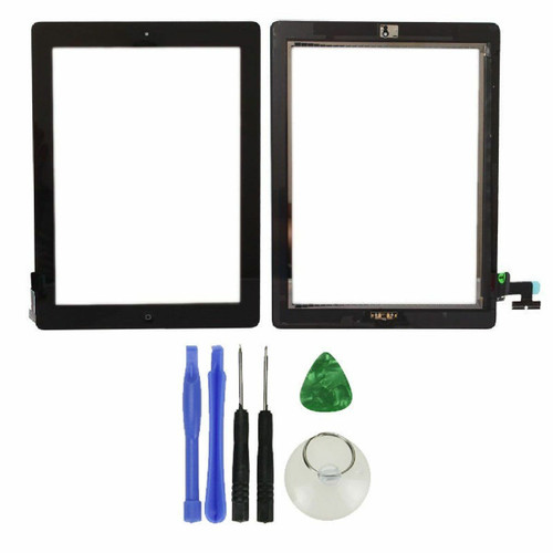 OEM SPEC Black Touch Screen Glass Digitizer iPad 2 Home Button Assembly Adhesive