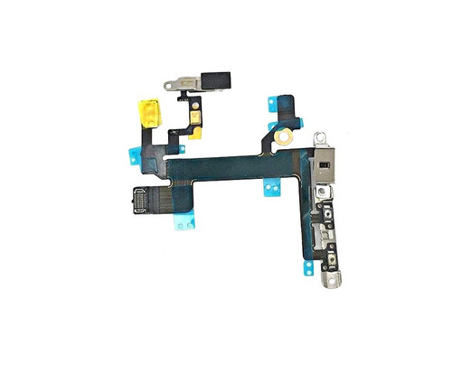 Power Mute Volume Button Switch Flex Ribbon Cable Metal Bracket For iPhone 5S