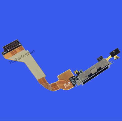 OEM SPEC Black Dock connector for iPhone 4 4G GSM Charge Port Flex Cable AT&T