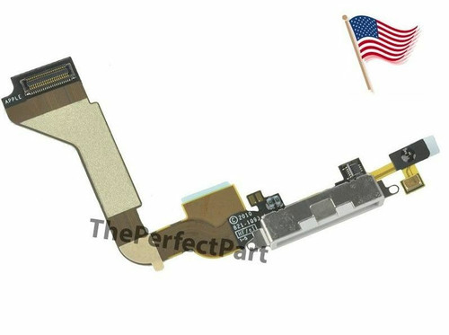 OEM White Dock connector for iPhone 4 4G GSM Charge Port Flex Cable AT&T A1332