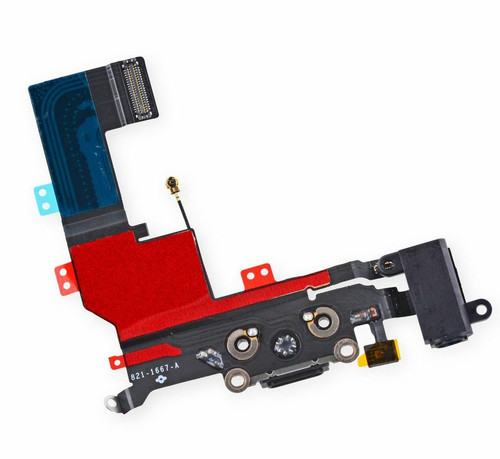 For iPhone 5S Black USB Charger Dock Connector Charging Port Replacement Part
