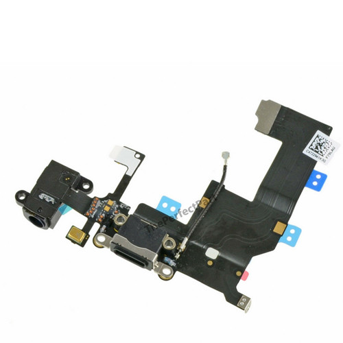 OEM SPEC Black Headphone Charger Charging Data USB Port Flex Cable For iPhone 5