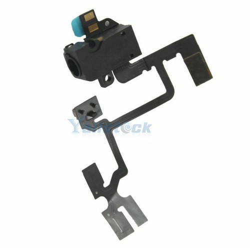 OEM SPEC Black Headphone Audio Jack Volume Switch Flex Cable For iPhone 4 4G GSM
