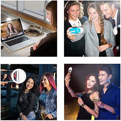 Portable Selfie LED Light Ring Fill Camera Flash For Mobile Phone Universal iPad