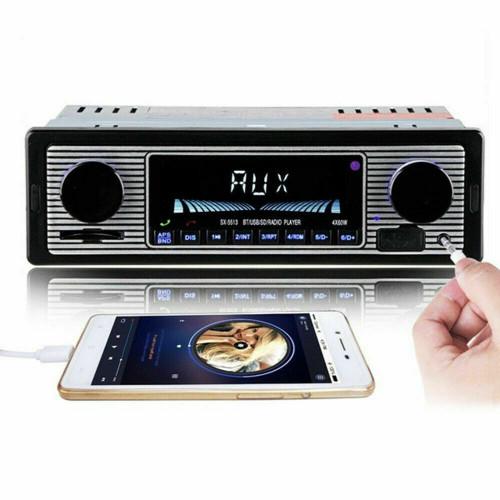 Bluetooth Vintage Car FM Radio MP3 Player USB Classic Stereo Audio Receiver AUX