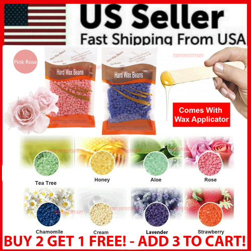 Hard Wax Beads Beans For All Waxing Types Depilatory Hair Removal Warmer Heater