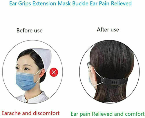10PCS Face Mask Extender Ear Hook Ear Strap Extension Mask Clip Saver Adjustable