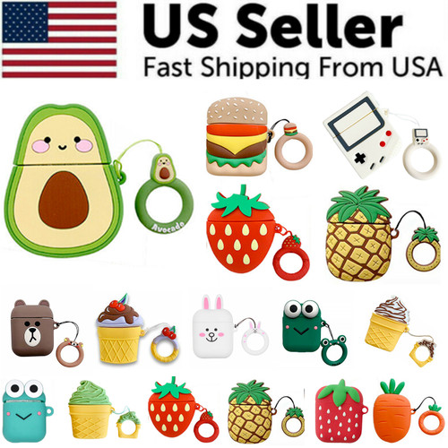 Cute 3D Cartoon Silicone Protective Case Cover For AirPod AirPods 1 2 Keychain