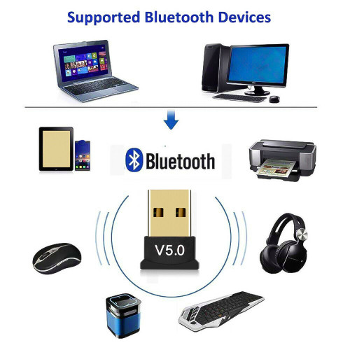 USB Bluetooth 5.0 Wireless Audio Music Stereo Adapter Dongle Receiver For TV PC V2