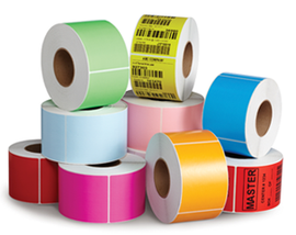 "Zebra 4"" x 2"" Fluor. Green Thermal Transfer Labels TH42-1PFG"