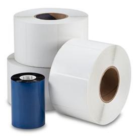 "Zebra 4"" x 6"" Thermal Transfer Gloss White Polyester Labels RP-4-6-1050-3"