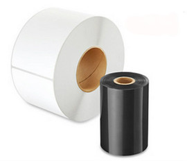 "Zebra S4M 4.33"" x 1476' Wax Ribbon 17152479"