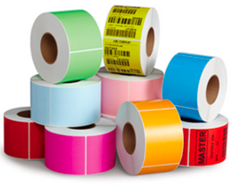 Zebra ZD500 COLOR Labels (Yellow, Red, Light Blue, Green, and Orange)