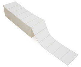 """Zebra 4"""" x 8"""" Direct Thermal Labels (Fanfold) RD-4-8-1000-FF"""