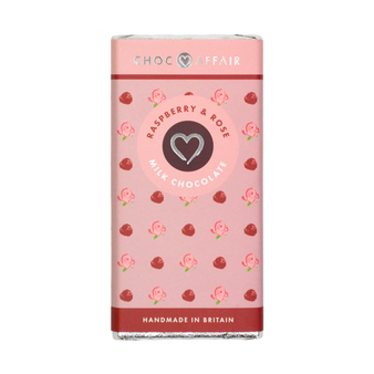 Raspberry and Rose Milk Chocolate Bar