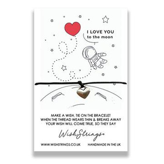 Love you to the moon & back  WishString Bracelet