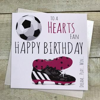 Hearts Fan Birthday Card