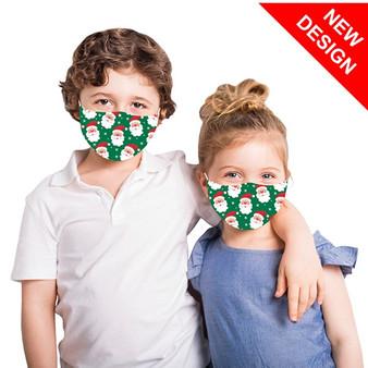 Santa Face Mask - Kids