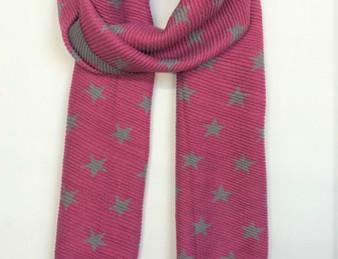 Reversible Star Scarf - Fuchsia