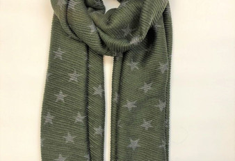 Reversible Star Scarf - Olive