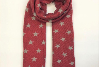 Reversible Star Scarf - Red