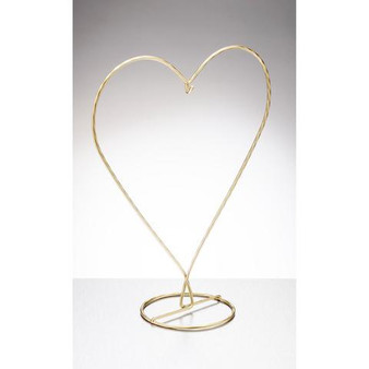 HEART SHAPED DISPLAY STAND - GOLD
