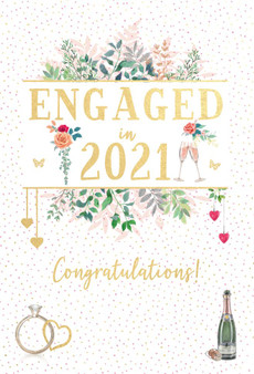 Engaged in 2021 Card
