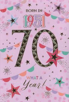 70th Birthday  - Female