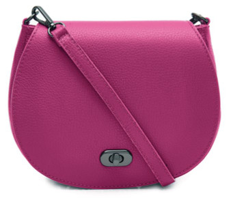 Small Leather Cross Body Bag - Pink