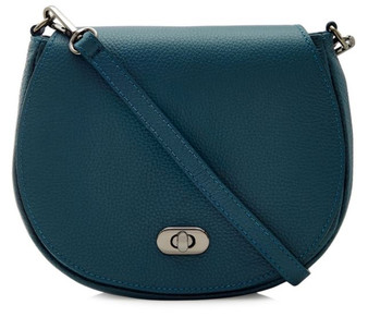 Small Leather Cross Body Bag - Teal