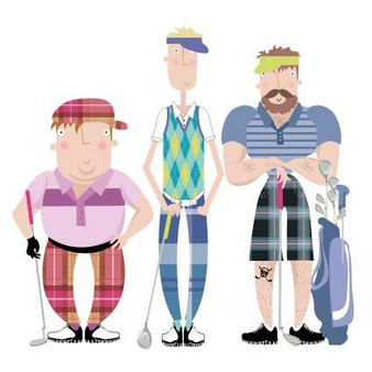 Golfers Blank Card by Pink Pig
