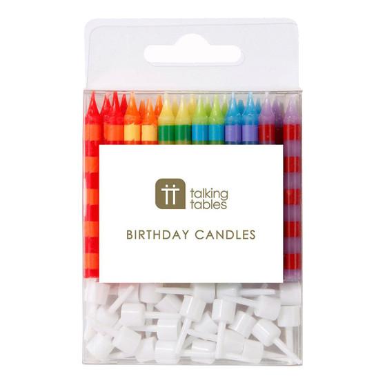 Birthday Striped Candles
