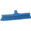 """Vikan 3178 16"""" Fine Particle Push Broom in Blue (Front View)"""
