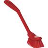 Vikan 4287 Long-Handled Narrow Scrubbing Churn Brush (Front View)