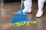 Floor Scrubs and Brooms
