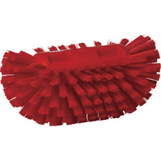 Vikan Medium Stiffness Tank Brush in Red (Side View)